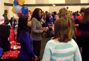 """Speedway representatives meet with students at """"It's All About Me in Clark County."""""""